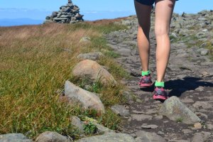 hiking running mountain cairn trail